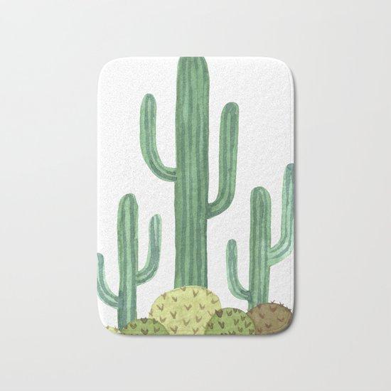 Classic Desert Cactus Bath Mat