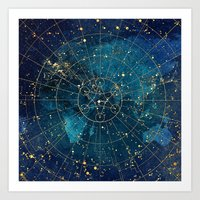 Star Map : City Lights Art Print