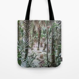 Palm Trees in the Green Swamp Tote Bag