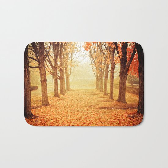 The Poetry of Autumn Bath Mat