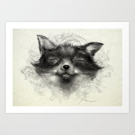 Cheeky Fox Art Print