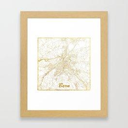 Bern Map Gold Framed Art Print