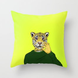 Spotted with Catnip Throw Pillow