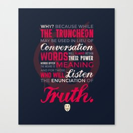 The Enunciation of Truth Canvas Print