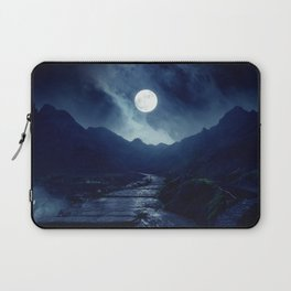 Walk to the Moon Laptop Sleeve