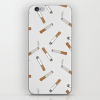 cigarettes iPhone & iPod Skins featuring Cigarettes by Abby Galloway