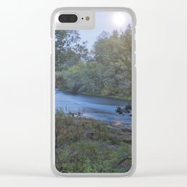 Moonlit River Clear iPhone Case