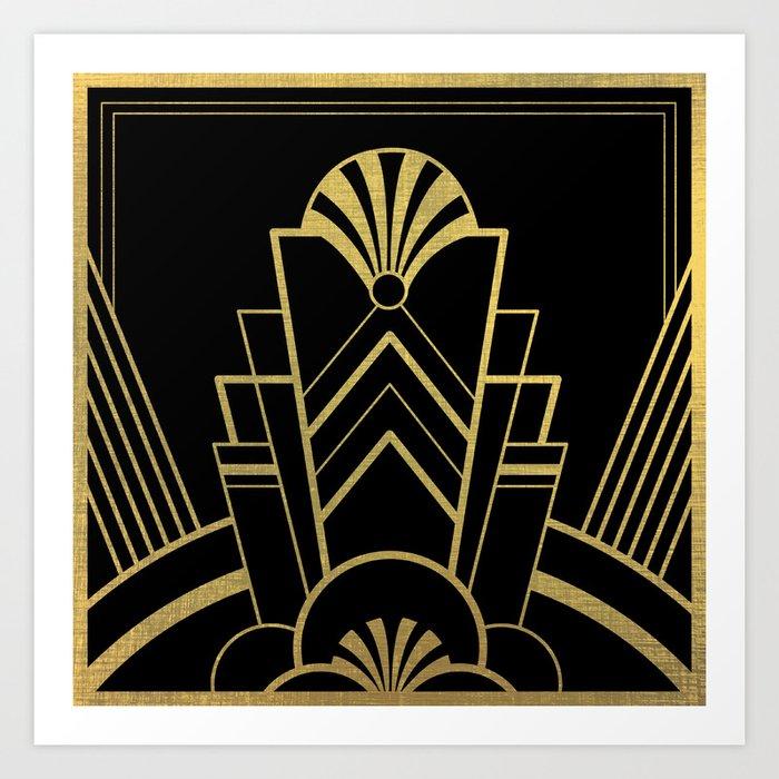 Art Deco Design Great Gatsby Art Print By Artbyagnew Society6