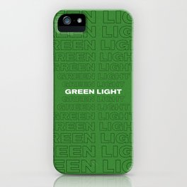Green Light 2 iPhone Case