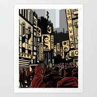 blade runner Art Prints featuring Blade Runner by A. Provost