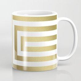 Gold Greek Stripes Coffee Mug