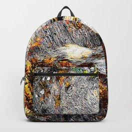 Modern gray wolf art vs 8 Backpack