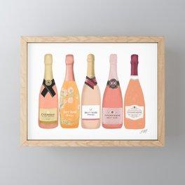 Rose Champagne Bottles Framed Mini Art Print
