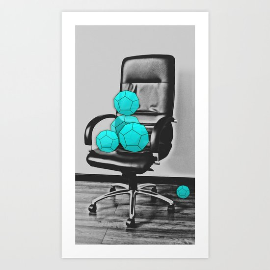 A Dodecahedron Family Relaxes Art Print