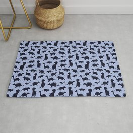 Dinosaurs cute pattern blue and navy Rug