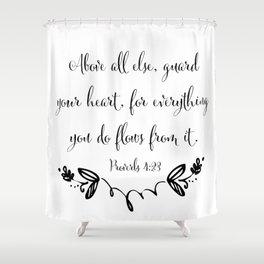 Guard Your Heart Shower Curtain