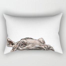 Peeking Baby Hippo Rectangular Pillow