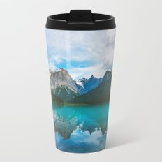 The Mountains and Blue Water Travel Mug