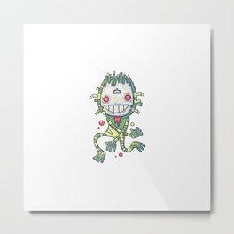 Swamp Monster Creation Mask Metal Print