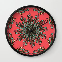 Red Parttern Wall Clock