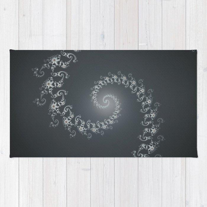 Follow the White Light - Fractal Art Rug