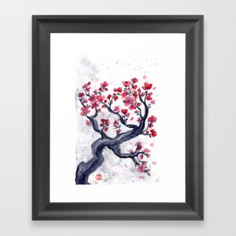 Japanese Plum (ume) Watercolour Framed Art Print
