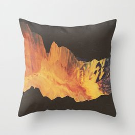 "Glitch art, ""Eruption"" 2014 Throw Pillow"
