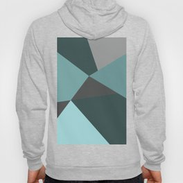 Broken Glass, blue, abstract graphic Hoody