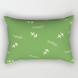 Sagittarius Pattern - Green Rectangular Pillow
