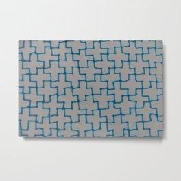 Blue Puzzle Metal Print
