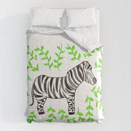 Watercolor Art | Zebra Comforters