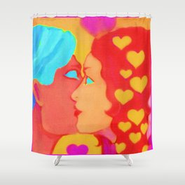 Forms Of Love MaleFeMale Shower Curtain