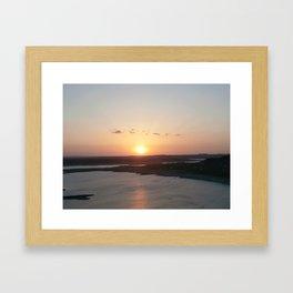 Sunset over Lake Travis Framed Art Print