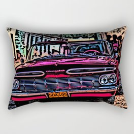Old american car in Trinidad, Kuba Rectangular Pillow