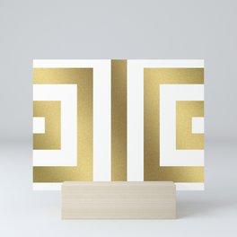 Gold Greek Stripes Mini Art Print