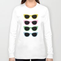 sunglasses Long Sleeve T-shirts featuring Sunglasses #4 by Project M