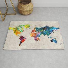 World Map 48 Rug