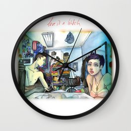 Morning Blues Wall Clock