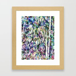 Bamboo forest background Framed Art Print