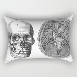 Front view of the head and lower surface of the brain Rectangular Pillow