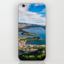 Queenstown Panorama at golden hour, New Zealand. iPhone Skin