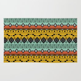 Colorful Aztec pattern. Rug