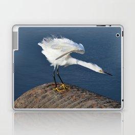 the egret dance Laptop & iPad Skin