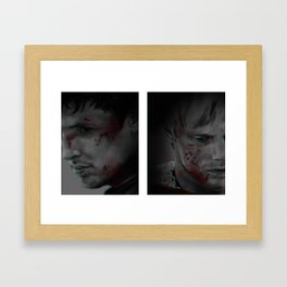 Wounded Inside and Out - 3D effect Framed Art Print