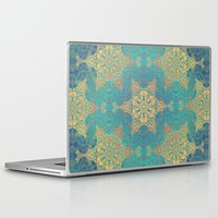 henna Laptop & iPad Skins featuring Blue Henna by Truly Juel