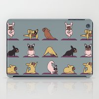 frenchie iPad Cases featuring Frenchie Yoga by Huebucket