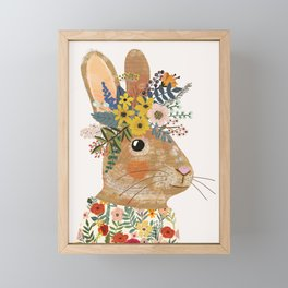 Foral Rabbit Framed Mini Art Print