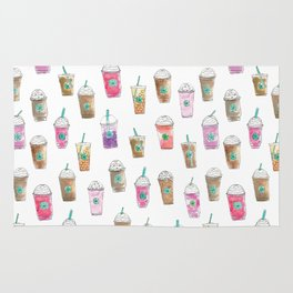 Coffee Cup Party in Marshmallow Rug
