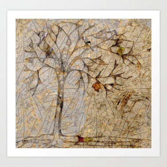 Scribble tree Art Print