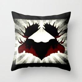 Moose Heads Throw Pillow